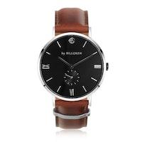 BY BILLGREN - Gustaf klocka läder, svart & brun