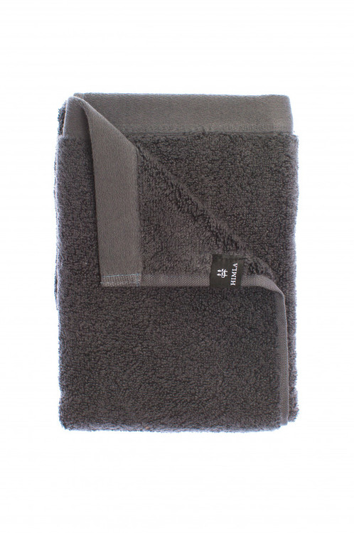 Presenttips mörkgrå handduk 50x70cm från Himla.