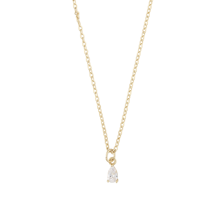 Presenttips Camille small pendant halsband i guld från Snö of Sweden.
