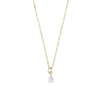 SNÖ OF SWEDEN - Camille small pendant halsband, guld & clear