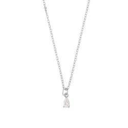 SNÖ OF SWEDEN - Camille small pendant halsband, silver & clear