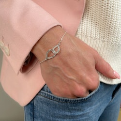 SNÖ OF SWEDEN - Ciel chain armband, silver