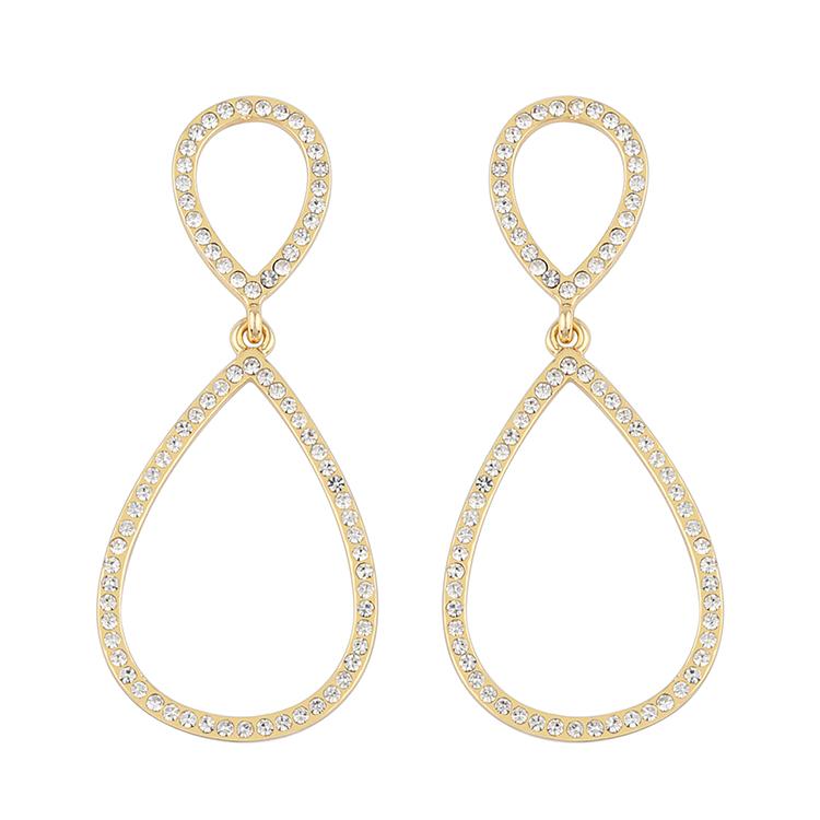 Presenttips Ciel pendant örhänge i guld från Snö of Sweden.