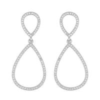 SNÖ OF SWEDEN - Ciel pendant örhängen, silver