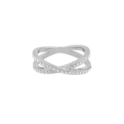 SNÖ OF SWEDEN - Francis small silver ring, storlek S