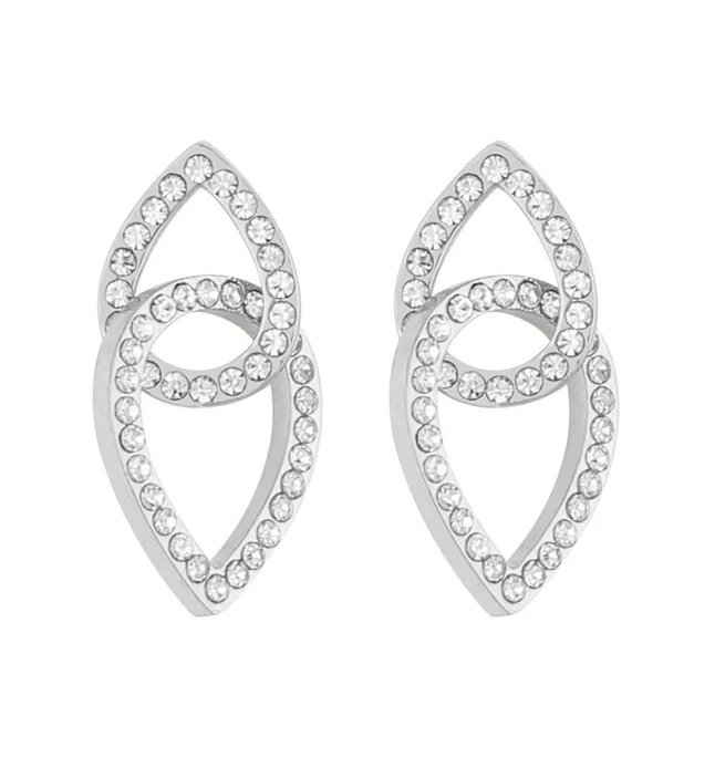 Presenttips Ciel short örhängen i silver från Snö of Sweden.