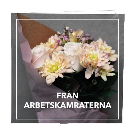 Gratulationskort från arbetskamraterna.