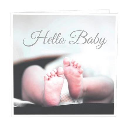 Gratulationskort Hello baby.