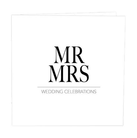 Gratulationskort mr och mrs.