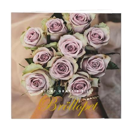 Gratulationskort stort grattis till bröllopet.