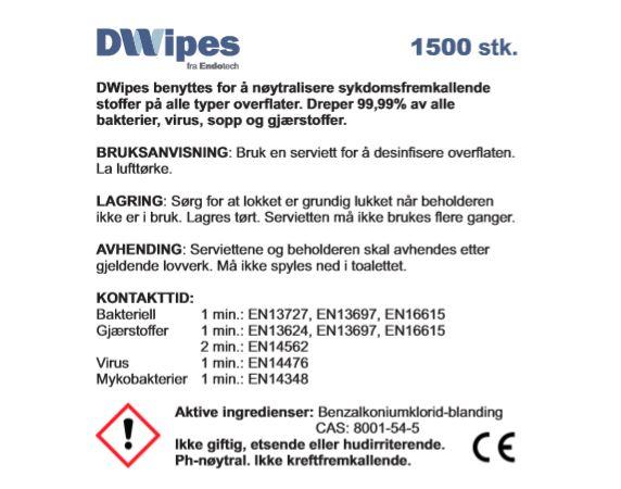 DWipes 1500 - refill 1500 stk.