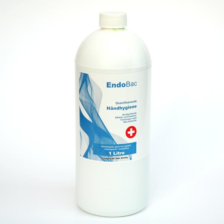 Hånd-desinfeksjon. Alkoholbasert. 1 Liter.
