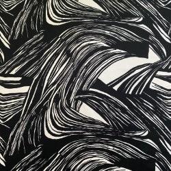 Kaisla Black/White - 490 SEK/M Tyg   Metsovaara   Retro