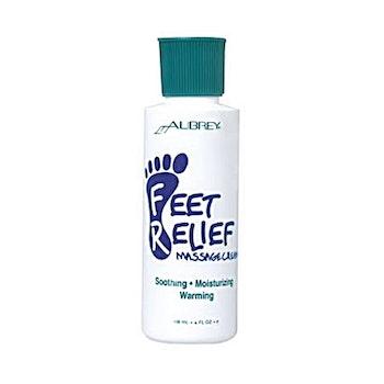 Avslappnande massagekräm för fötter