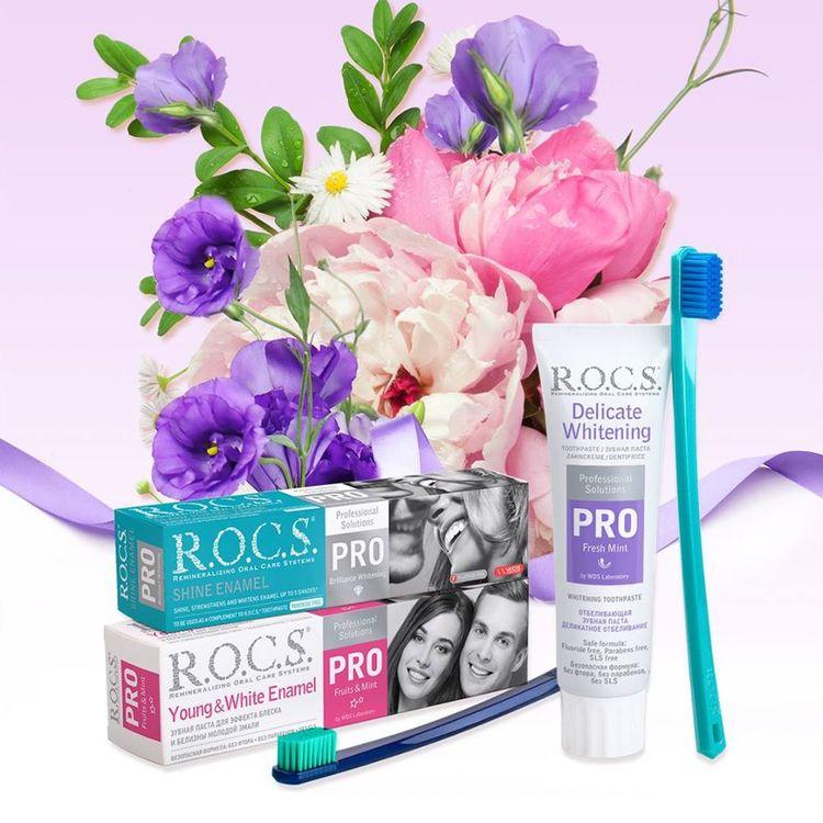 R.O.C.S.® PRO Ung och vit emalj