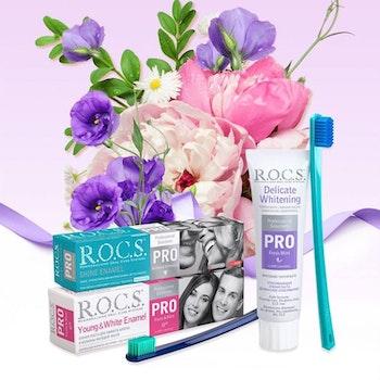 R.O.C.S. ® PRO Ung och vit emalj