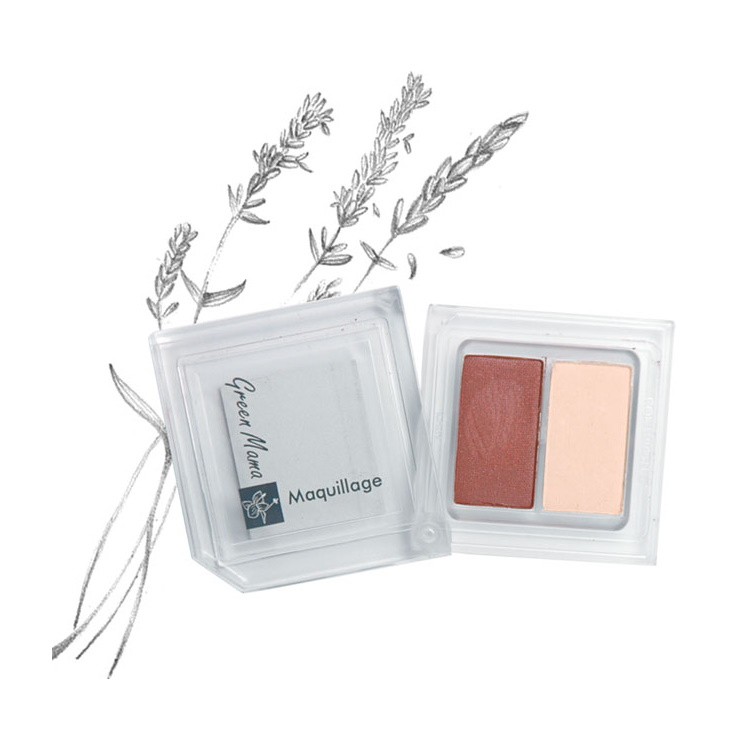 Tvåfärgs ögonskugga med naturliga UV-filter