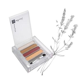 Fyrfärgs ögonskugga med naturliga UV-filter