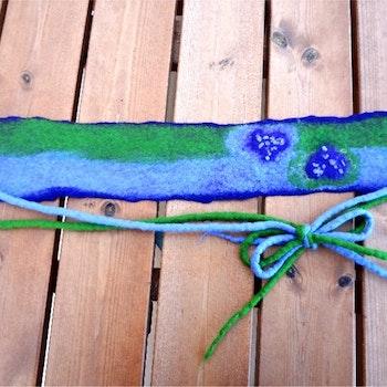 Hårband/halsband/skärp Lavendel- serien med två hjärtan