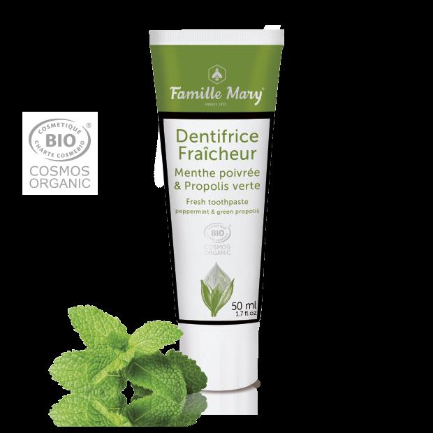 Ekologisk tandkräm Pepparmynta och grön propolis