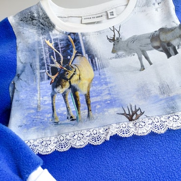 Reinsdyr blå - Fleecekjole