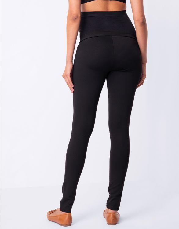 Svarta treggings för gravida zoomad bild på byxorna