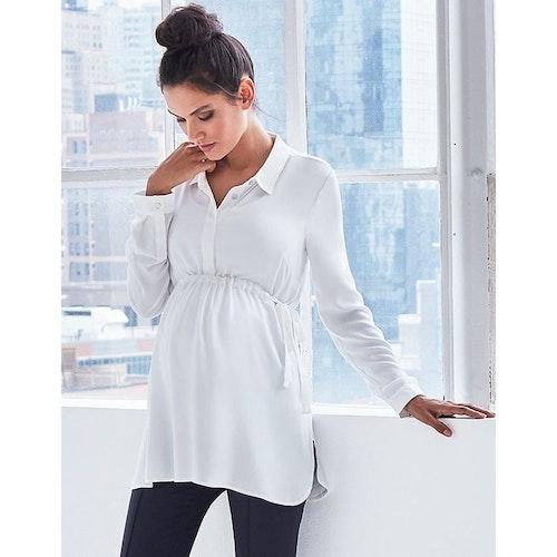 Annora - vit gravidskjorta