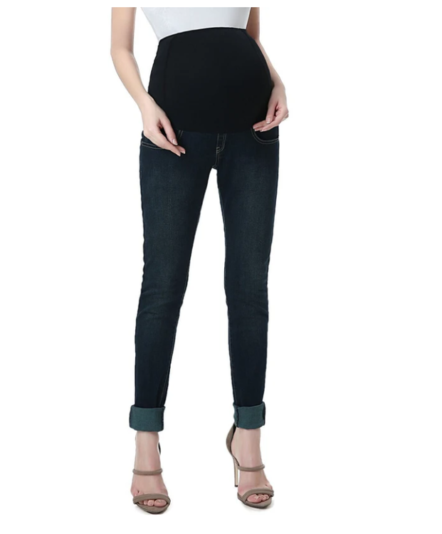 KImi + Kai- skinnyfit gravidjeans - mörkblå - Medium