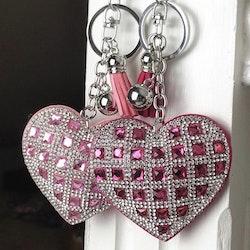 Hjärtnyckelring | Mörkrosa