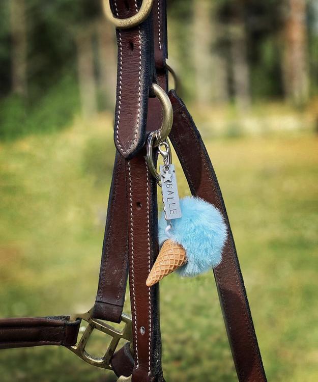Glassnyckelring | Blå