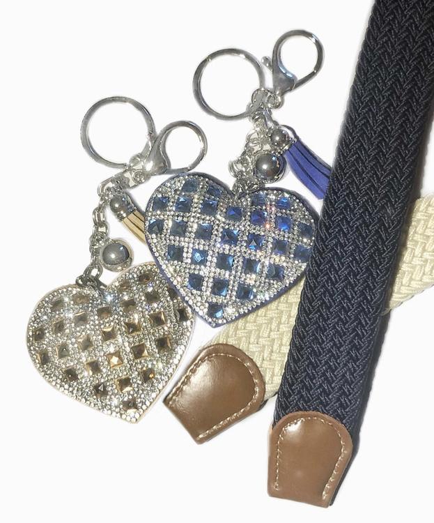Hjärtnyckelring | Marinblå
