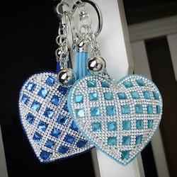 Hjärtnyckelring | Turkos