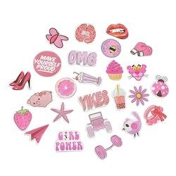 Klistermärken | Rosa
