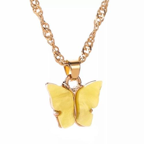 Fjärilshalsband | Gul