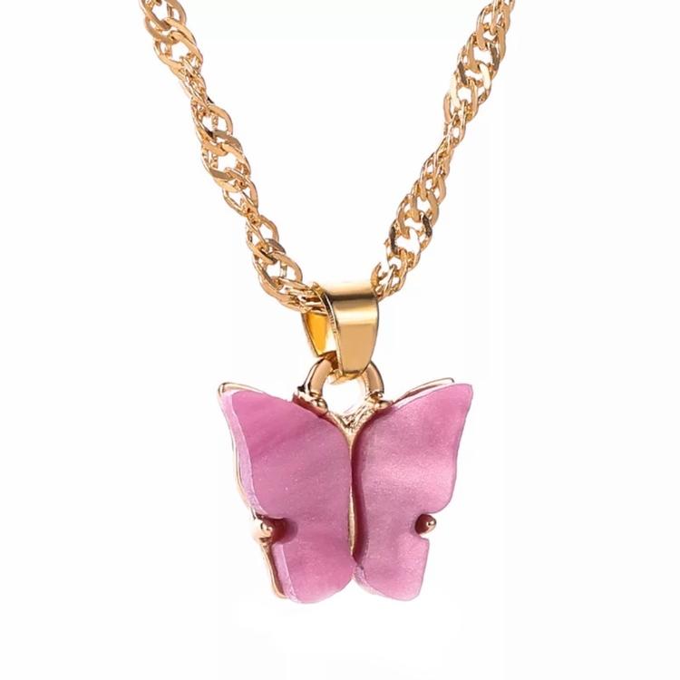 Fjärilshalsband   Rosa
