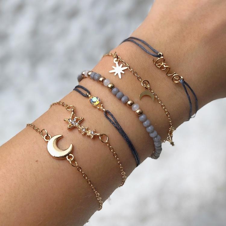 Lyckoarmband |Guld/Stjärnor