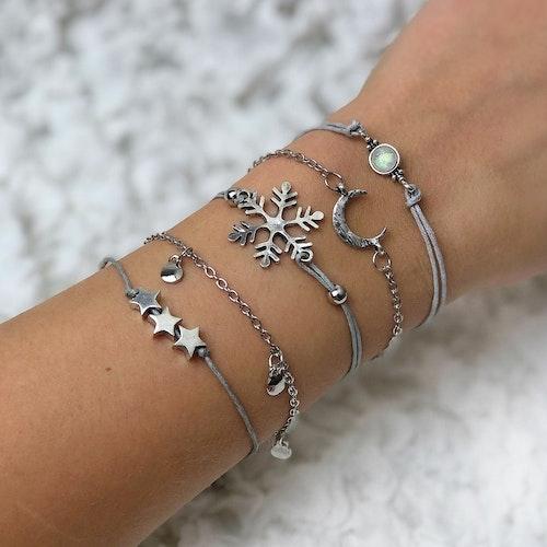 Lyckoarmband | Silver/Vinter