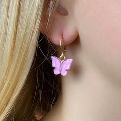 Fjärilsörhängen | Lilarosa