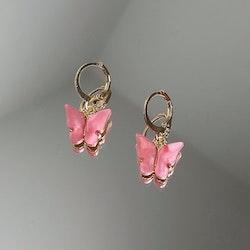 Fjärilsörhängen | Rosa