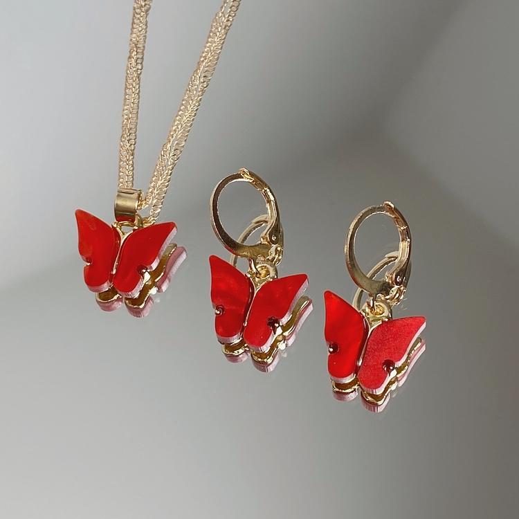 Fjärilskit | Röd