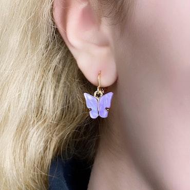 Fjärilsörhängen | Lila