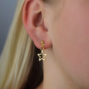 Örhängen | Stjärnor Guld