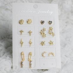 9-pack Örhängen