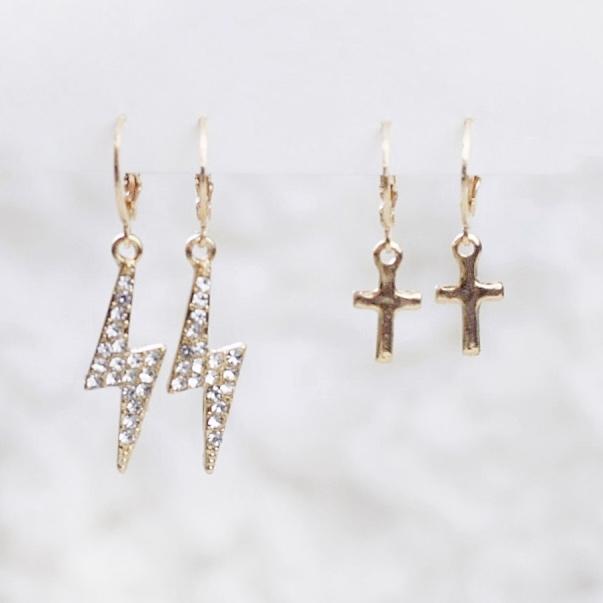 2-pack Örhängen | Guld