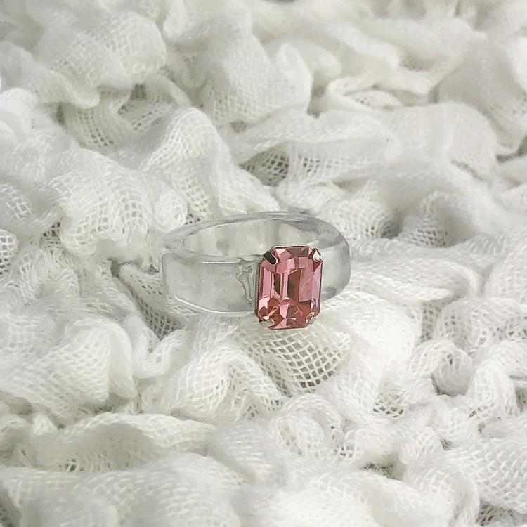 Ring | Transparent/Rosa