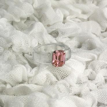 Ring   Transparent/Rosa