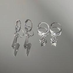 2-pack Örhängen | Silver