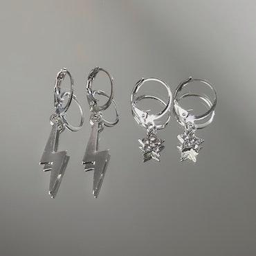 2-pack Örhängen   Silver