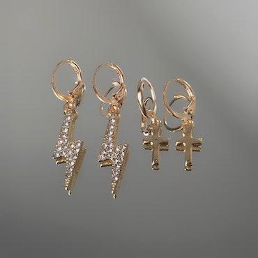 2-pack Örhängen   Guld
