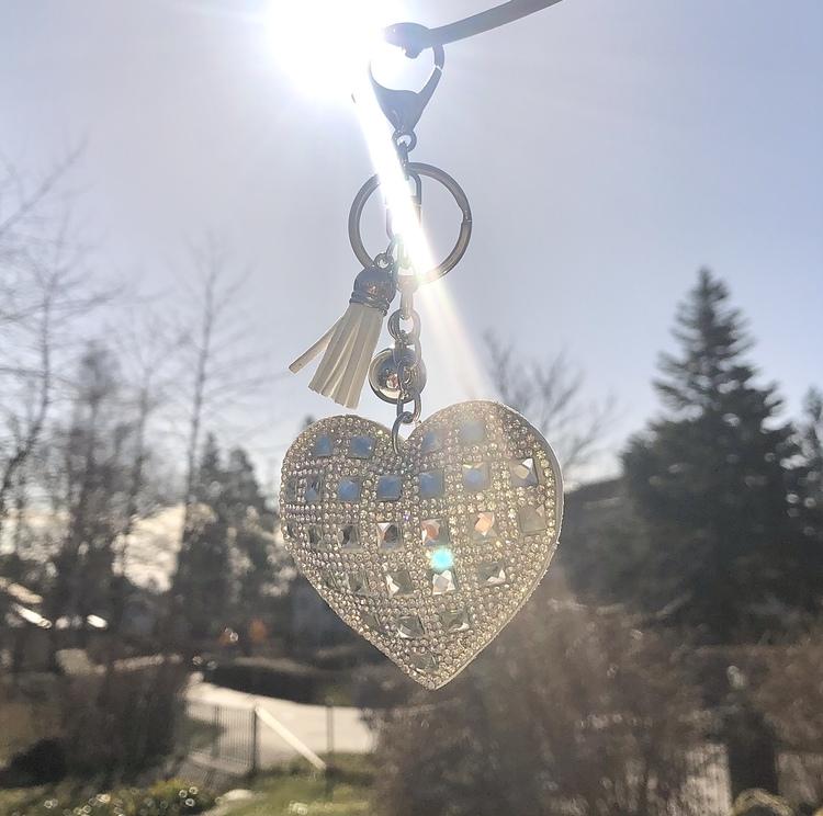 Hjärtnyckelring | Vit